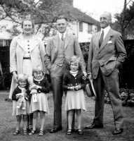 1937 Rosebud Ashby, Ross Ashby and his father, with daughters, Ruth, Sally, and Jill Ashby.