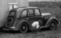 1951. Ross Ashby's first car, a Morris 12 bought about 1938.