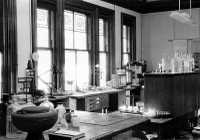 1955 March. Ross Ashby's laboratory at Barnwood House Hospital.